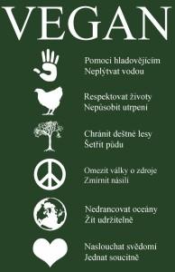 Vegan - 5 piktogramů